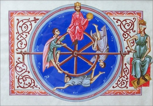 La rota fortunae, simbolo della mutatio rerum